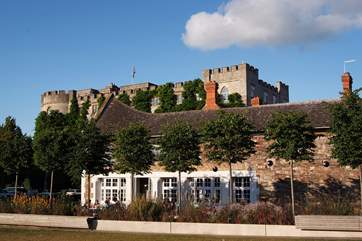 In front of Taunton Castle is a wide square with other historic buildings and some great places to dine al fresco on a summer's evening.