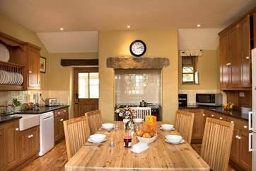 The wonderful farmhouse kitchen.