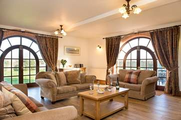 The sitting room has plenty of room for everyone to chill out and relax