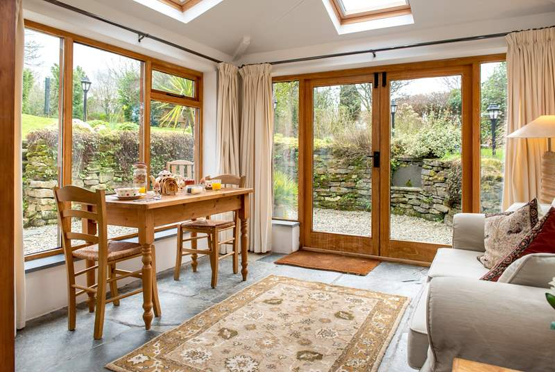 Meal times will be a treat with views out over the garden.