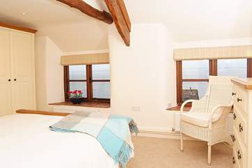 This is the master bedroom which has the feel of a 'suite' with a little private foyer off which is the bedroom and the shower-room.