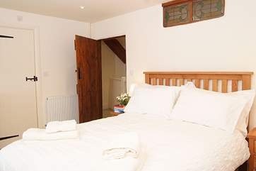 This is the second of the double bedrooms - another very spacious and comfortable room.
