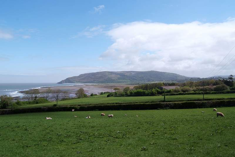 Greenaleigh Farm is on the far side of Greenaleigh Point - the headland seen here from Porlock. A fabulous walk.