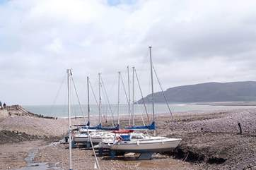 Looking back towards Greenaleigh Point from Porlock Weir.