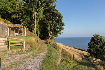 Sit out in this pretty gazebo and take in the incredible views right across the Bristol Channel.