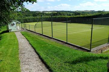 Guests are welcome to use the astro turf tennis court which is shared with the Owner's family.