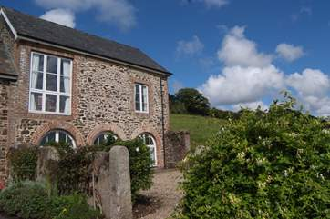 There is a front garden too - with amazing unspoilt views towards Exmoor.