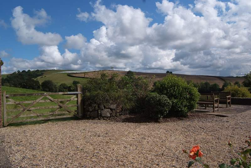 Another view of the front garden and its beautiful views. This is a great base for exploring but equally for just relaxing and staying put.