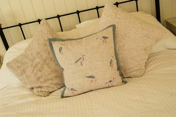 Lovely soft furnishings show the thought and effort put into creating this fabulous holiday home.