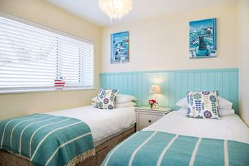 Pretty bedroom 3 has twin beds