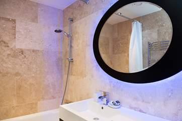 All the bathrooms have stylish illuminated mirrors
