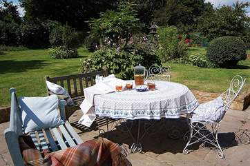 There is a wonderful sunny patio with your gardens beyond - a really tranquil and private place to enjoy the surroundings here.