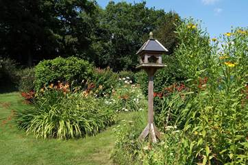 The gardens are a delight. Plenty of lawn space for children to play and for dogs to feel free and lots of gorgeous colour as well.