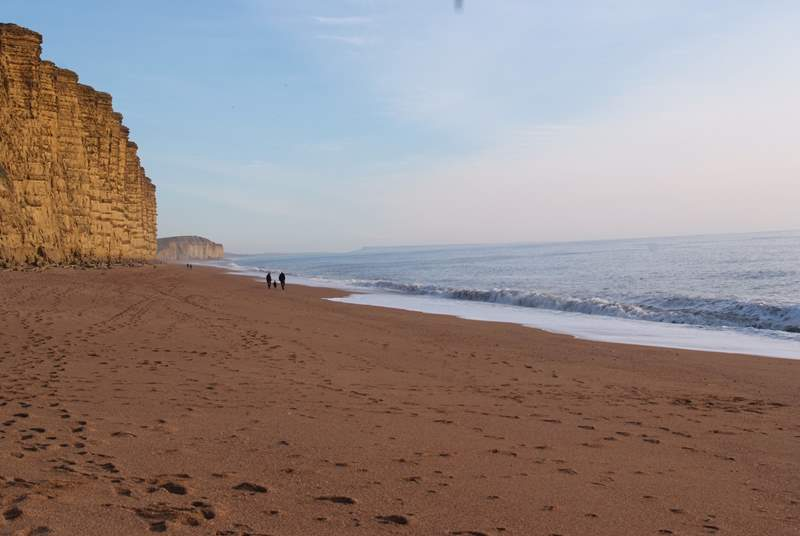The stunning Jurassic Coast is only about a 35 minute drive away from the cottage.  This is West Bay at Bridport.