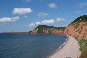 This is the stretch of the Jurassic Coast at Sidmouth - a wonderful Regency town  an easy drive away.