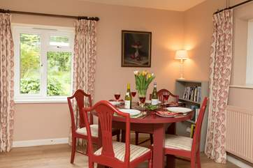 There is plenty of room for the dining table so you can eat in style in this friendly room