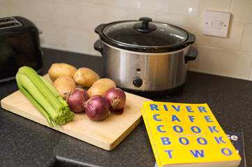 For your convenience there is an electric slow cooker - try the local farmers' markets for excellent local produce and have a go.
