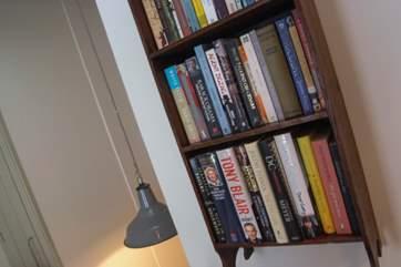 Plenty of books for rainy days.