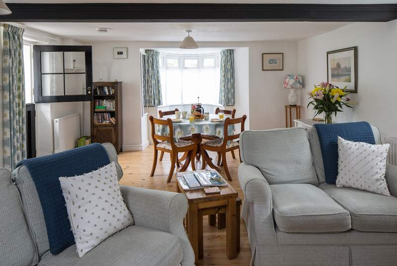 There is a spacious sitting/dining-room with a useful porch for wellies and walking boots.