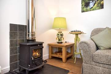The toasty woodburner makes this a perfect retreat all year round
