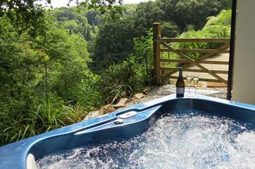 Enjoy this wonderful setting from the bubbly hot tub