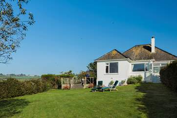 Trevethan sits on a large plot with great-sized gardens and a huge raised decking area to the side of the house.