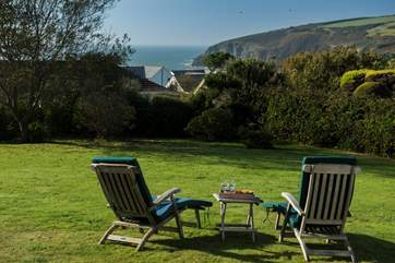 The views from the house and garden are stunning, pull up a chair and relax.