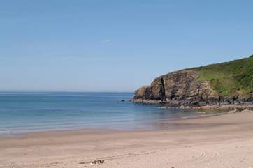 The family friendly sandy beach at Praa Sands is only a few minutes walk away from the house.
