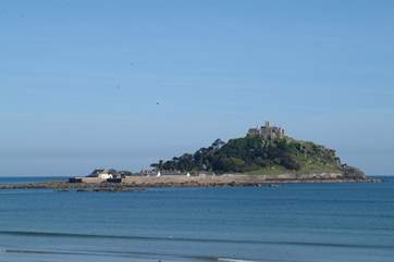St Michaels Mount at the medieval town of Marazion is also only ten minutes drive in the opposite direction towards Penzance.