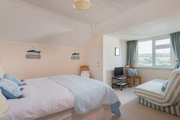 The spacious second double bedroom is the only room on the first floor.