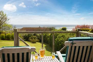 Sit on the deck with a jug of Pimms.