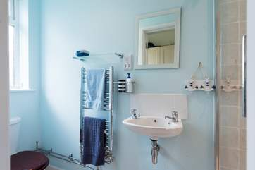 The ground floor shower-room can be found just off the kitchen.
