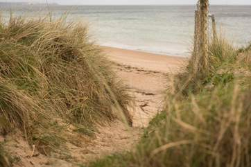 Walk on the sandy beach at any time of year.