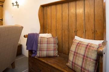 The cottage has a lovely balance of contemporary and antique furnishings giving it plenty of welcoming character.