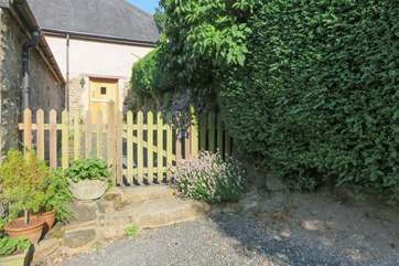This is the front door - the gardens are to the back of the cottage, facing West so that you can enjoy wonderful sunsets across the valley.