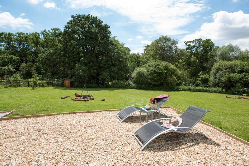 There is plenty of space to relax and enjoy the sights and sounds of the countryside.