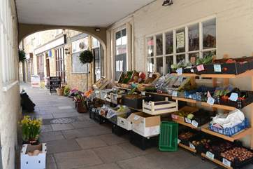 Sherborne has some wonderful shops and local produce.