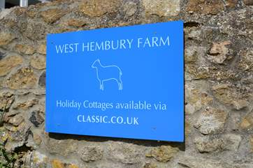 You have arrived; this sign will greet you when you reach West Hembury Farm.