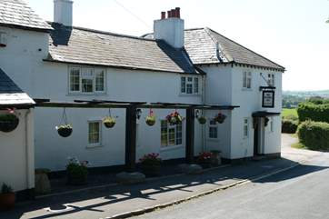 The Spyway Inn is a short walk from West Hembury Farm.