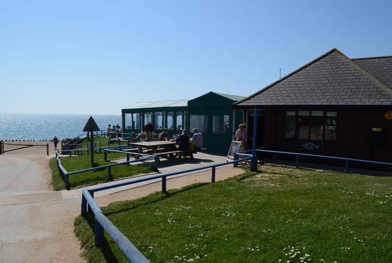 If you love seafood, visit the Hive Beach cafe at Burton Bradstock. Fabulous local fish dishes are served, or if you prefer there are always delicious home-made cakes on offer.