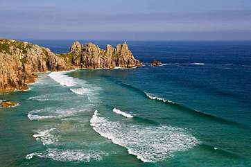 Porthcurno is just eight miles away.