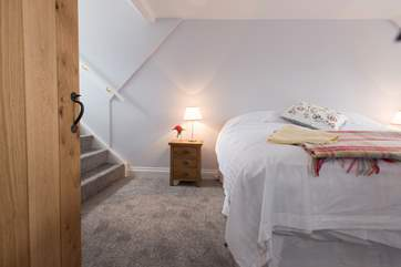 The double bedroom is home to a 6' double bed.