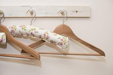 Pretty padded hangers in Bedroom 2.