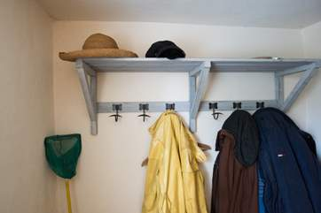 Plenty of storage for coats, hats and fishing nets!