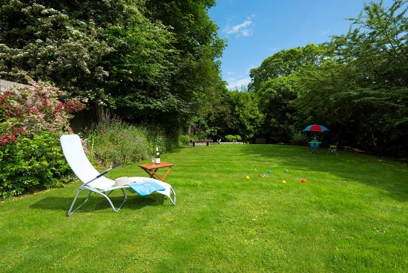 Plenty of garden to relax and play.