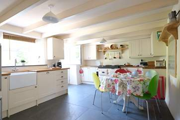 A proper cottage kitchen, complete with Aga.