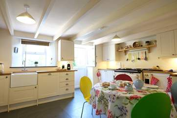 The kitchen is light, spacious and wonderfully well-equipped.