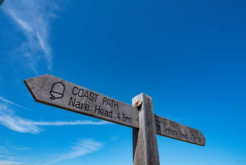 The coastal path is literrally outside the door.