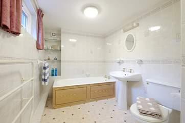 The en suite bathroom to Bedroom 1.