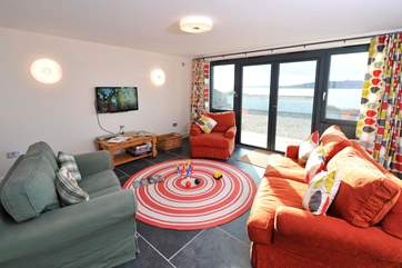 The colourful ground floor family sitting-room.